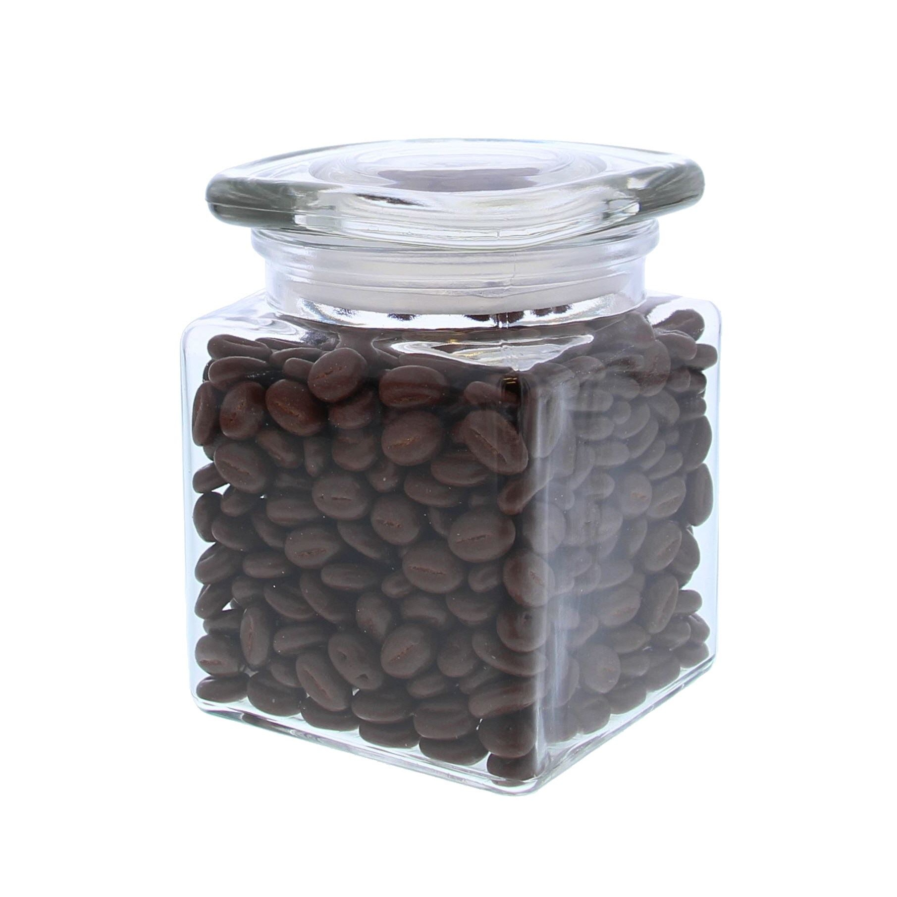 Glass jar with square lid - 100*100*135mm -6 pieces