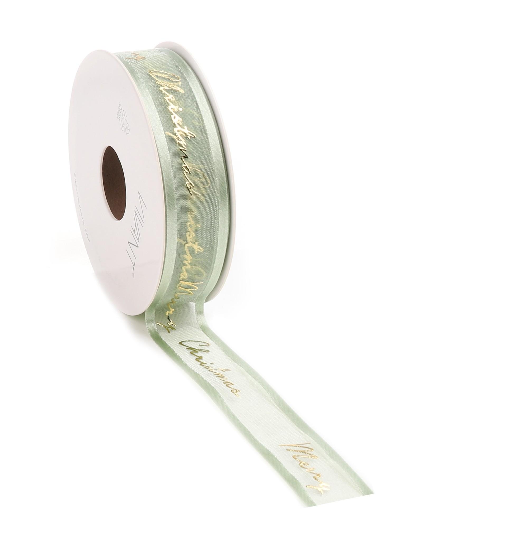 Prego Christmas  woven edge Band - Light Olive