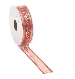 Prego Christmas  woven edge Band - Brique