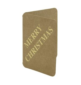 "Craft paper booktags "" Merry Christmas"" - Shiny gold"