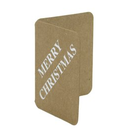 "Craft paper booktags "" Merry Christmas"" - Shiny silver"