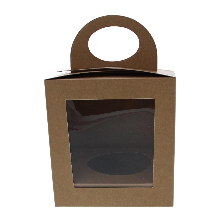 Easter egg box Kraft - 25 pieces