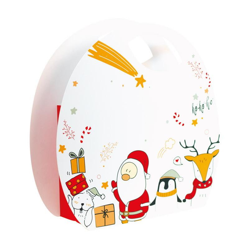 """Draagtasje """"Blanc Noël"""" - 200* 100 *180 mm - 25 stuks"""