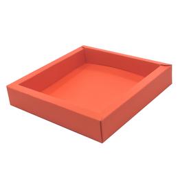 Square box orange  120*120*27mm - 36 pieces