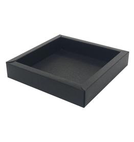Square box black  120*120*27mm - 36 pieces