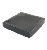 Square box black with transparant lid  120*120*27mm - 36 pieces