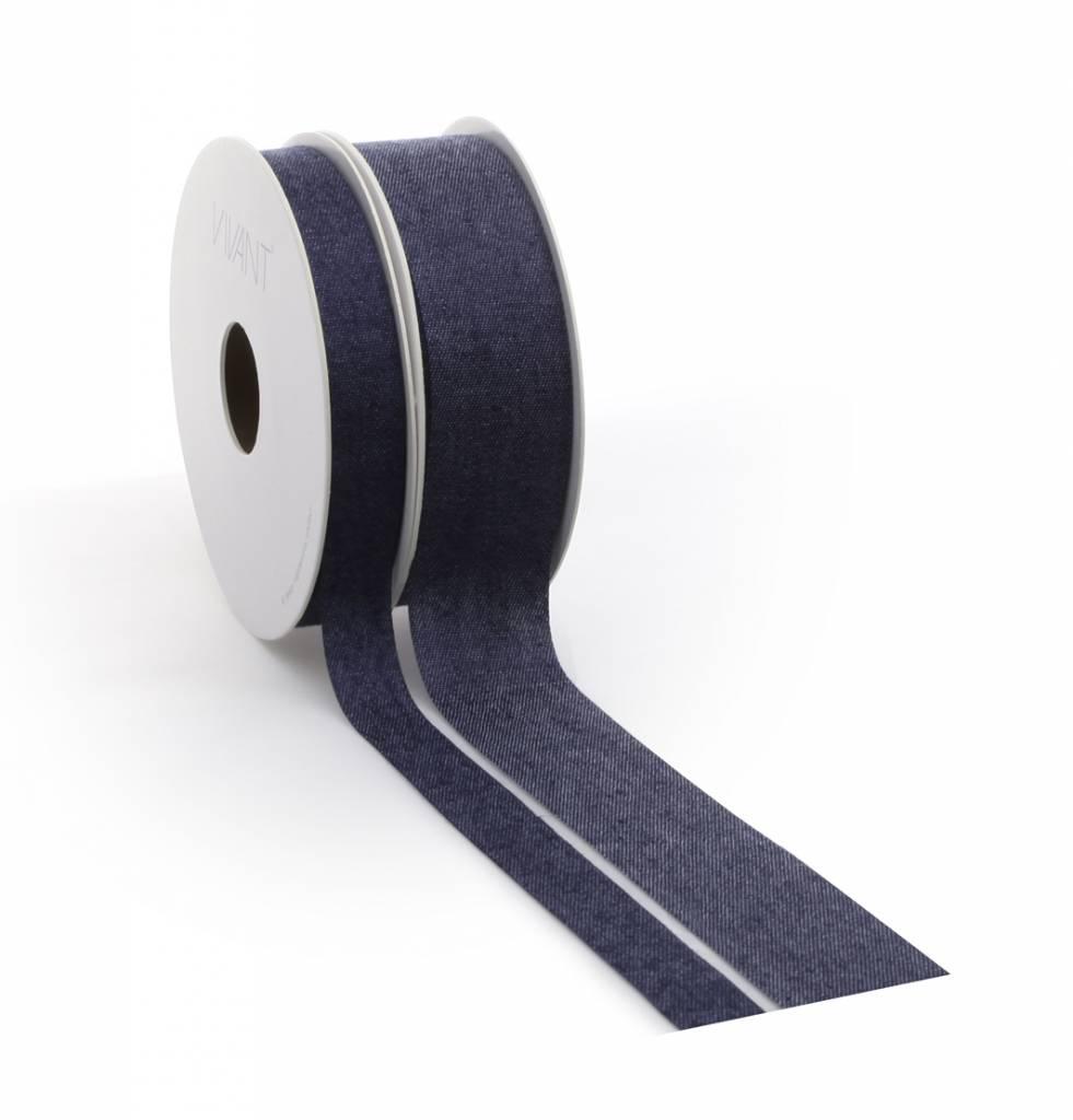 Denim ribbon - Blue
