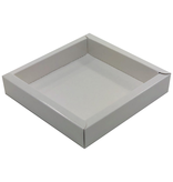 Square box white with transparant lid  120*120*27mm - 36 pieces
