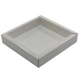 Vierkant doosje wit met transparant deksel 120*120*27mm - 36 stuks