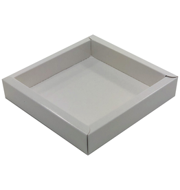 Square box white  120*120*27mm - 36 pieces
