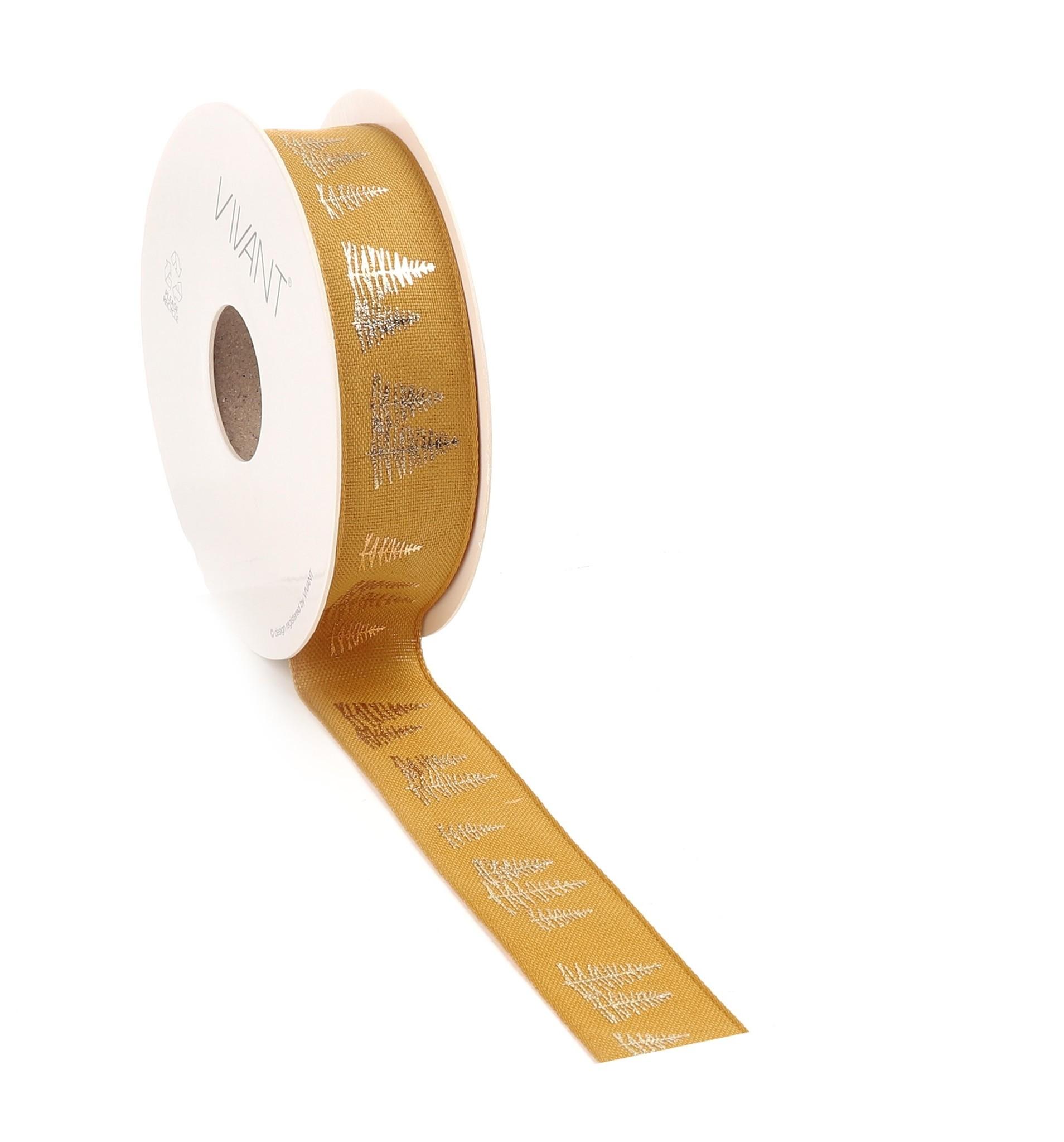 Fir woven edge Band - Ocker