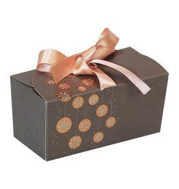 "Ballotin ""Guirlande"" with ribbon - brown"