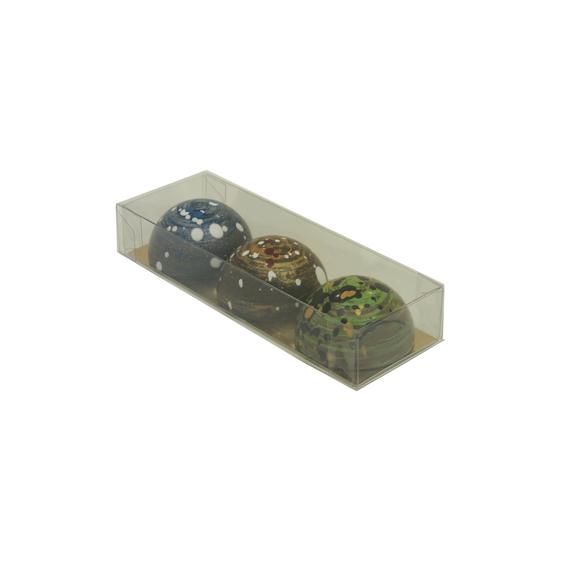Transparant box with gold carton - 120*40*20mm - 80 pieces