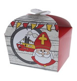 "Butterfly Box Saint Nicholas ""Party"" 500 grams - 100*125*105mm - 48 pieces"
