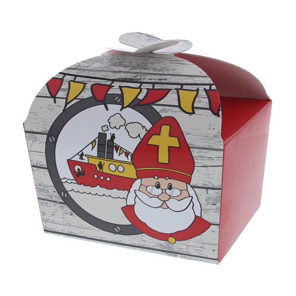 "Butterfly Box Saint Nicholas ""Party"" 500 grams - 100*125*105mm - 48 pieces"