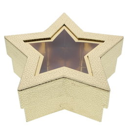 Star box with clear window - gold