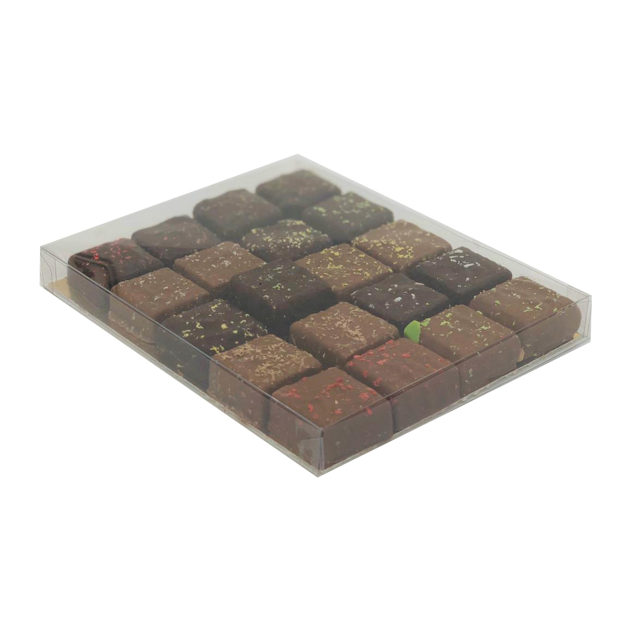 Transparanten Schachtel mit Goldkarton - 150*120*16mm - 50 Stück