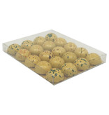 Transparant box with gold carton - 150*120*16mm - 50 pieces