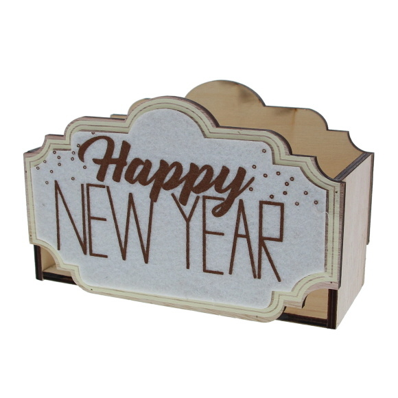 """Sparkle"" Happy New Year box - 160*70*100 mm - 6 pieces"