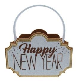 """Sparkle"" Happy New Year mand met oor"