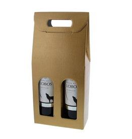 Caja para 2 botellas - oro
