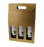 Schachtel für 3 flaschen - Gold - 10 Stück