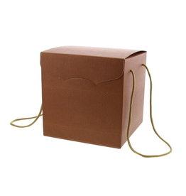 """Caja Segreto con cuerda """"Skin coffee"""" - terracota"""