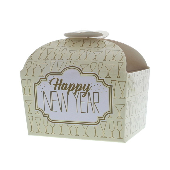 """Butterfly Box """"Sparkle"""" Happy New Year 500 grams  - 100*125*105mm - 48 pieces"""