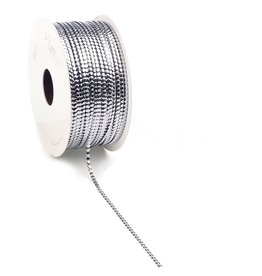 Circlé  curly Ribbon - silver