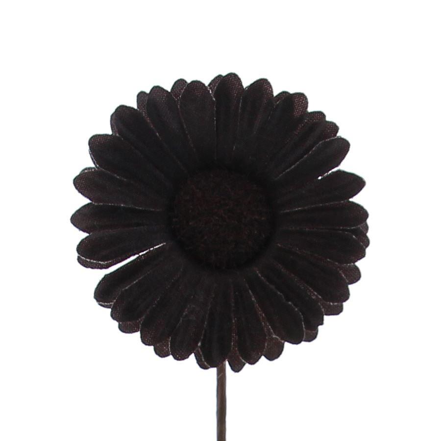 Flower Germini - 65mm - dark brown - 96 pieces