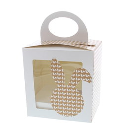 """Easter egg box  """"Bunny Ears"""" with stand"""