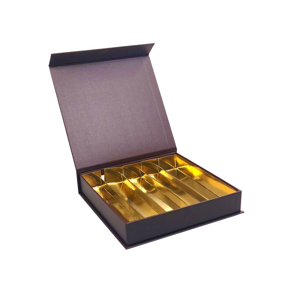 Magnet Bonbon Schachtel Braun 25 Pralinen   - 16,8*16,8*3 cm - 12 Stück