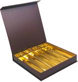 Magnet Bonbon Boxes Brown 36 Chocolates - 20,7 * 20,7 * 30 cm -13  pieces