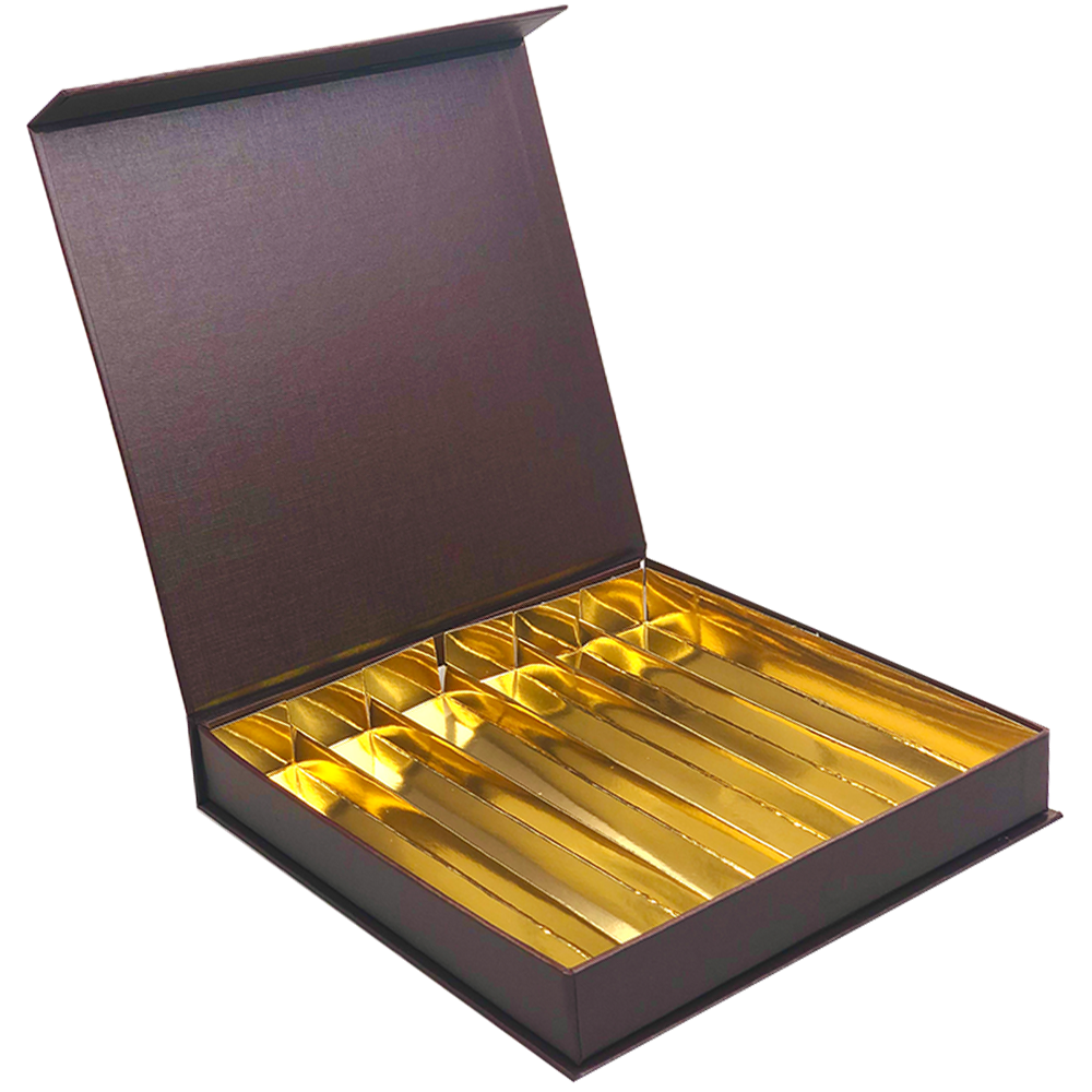 Magnet Bonbon Schachtel Braun 36 Pralinen   - 20,7 * 20,7 * 30 cm -13  Stück