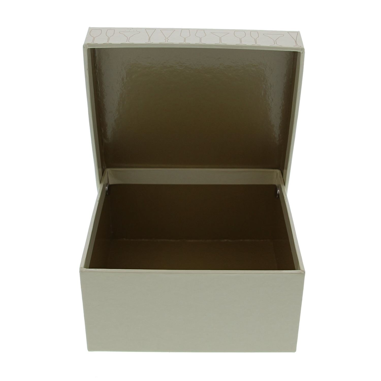 """""""Sparkle""""   Schachtel quadratisch mit Deckel  - 130*130*65mm - 10 Stück"""