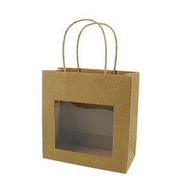 Kraft Paper Bag with window - 25 pieces