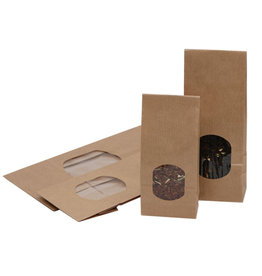 Bag Kraft with window - 1000 pieces
