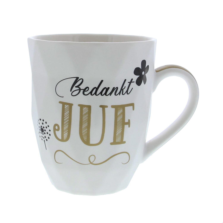 """Bedankt Juf"" mug - 88*103mm - 12 pieces"