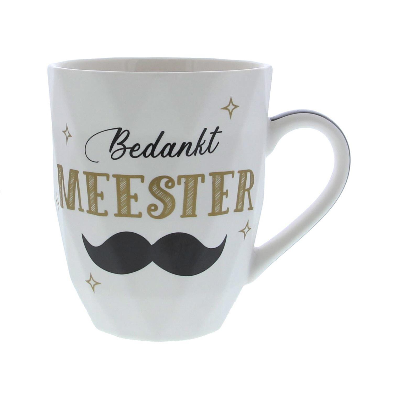 """""""Bedankt Meester"""" tasse - 86*103mm - 12 pièces"""