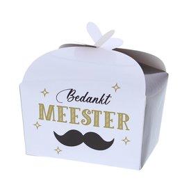"Ballotin vlindersluiting ""Bedankt Meester"" 250 gram"