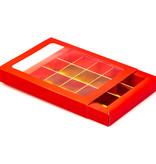 15 Fachs Schachtel Rot mit Hülse - 175 * 120 * 27 mm