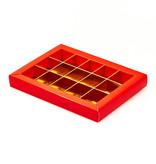 Boîte rouge avec pochette - 175 * 120 * 27 mm