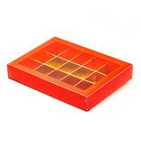 Boîte rouge avec interiéur pour 15 pralines - 175*120*33mm - 50 pièces