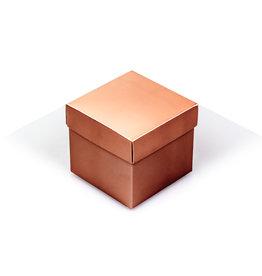 Cubebox - Glanzend roségoud