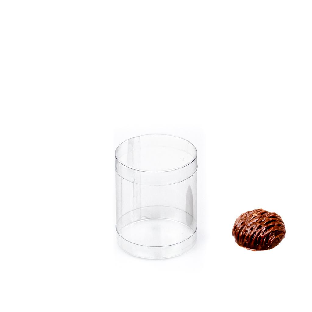Transparanten PVC Köcher  - ø 5 cm - 6 cm  - 100 Stück