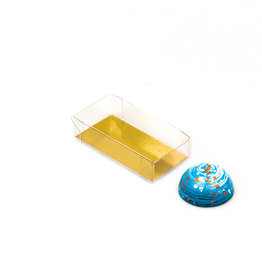 Transparant box with gold carton - 80*40*20mm - 100 pieces