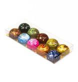 Transparanten Schachteln mit Gold Einsatz - 200*80*21mm  - 100 Stück