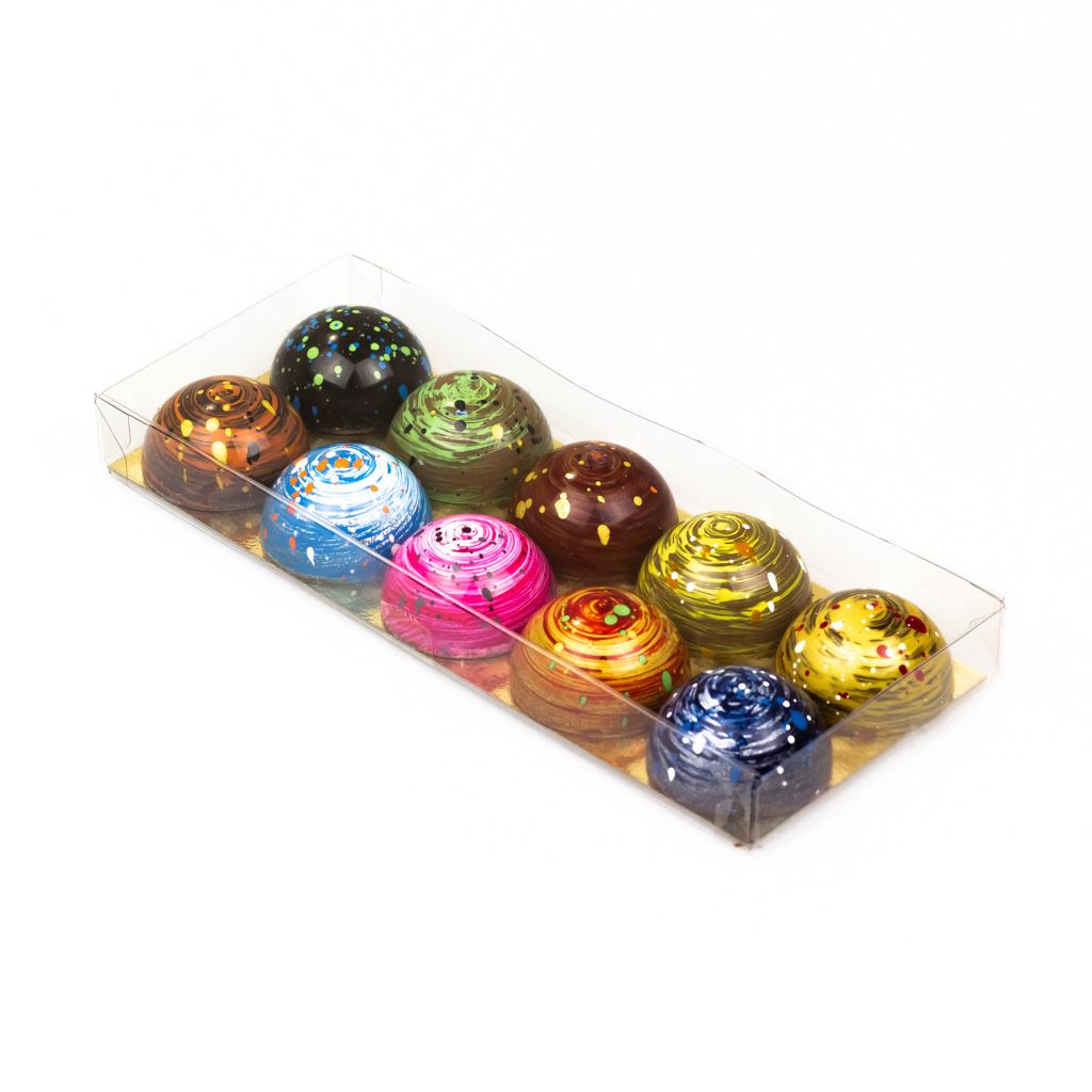Transparant doosje met goudkarton - 200*80*21mm - 100 stuks