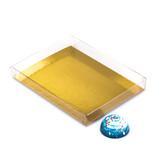 Transparanten Schachteln mit Gold Einsatz - 160*120*20mm  - 50 Stück