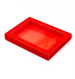 Boîte rouge avec pochette